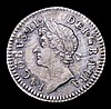 Maundy Fourpence 1687 7 over 6 1862A EF with an attractive colourful tone and a few light haymarks