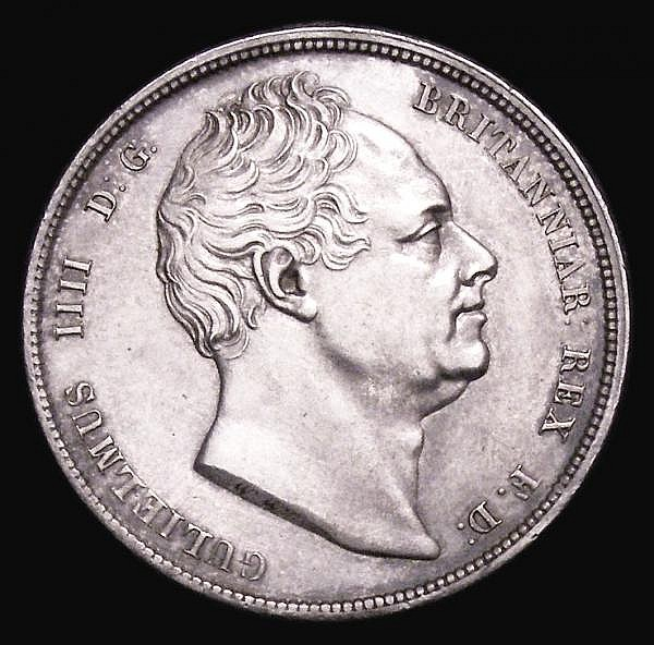 Halfcrown 1836 ESC 666 GEF the obverse with some hairlines