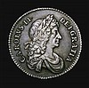 Shilling 1674 4 over 3 ESC 1039A GVF with an attractive grey tone and excellent eye appeal, the obverse with an old light scratch, Very Rare, Ex-M.Rasmussen, Ex-Ashby