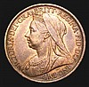 Penny 1897 Dot between O and N of PENNY Gouby BP1897B GEF with traces of lustre, usually only found in low grade, extremely rare in all grades above Fine