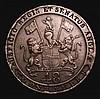 India - Madras Presidency 1/48th Rupee 1797 KM#398 incuse edge inscription Good Fine, Rare
