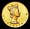 Coronation of Queen Elizabeth II 1953 in 9 carat gold, Obverse Crowned bust right ELIZABETH II R. Reverse CORONATION JUNE 2ND 1953 with 9ct countermark EF