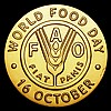 FAO World Food Day medal undated 59.44 grammes of 18 carat gold, this medal only given to dignitaries, Matt finish Choice UNC, in the brown FAO box of issue