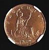 Farthing 1862 Bronze Proof Freeman 508 dies 3+B NGC PF63 BN