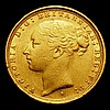 Sovereign 1887S Young Head, George and the Dragon Marsh 124 NVF/VF with some contact marks