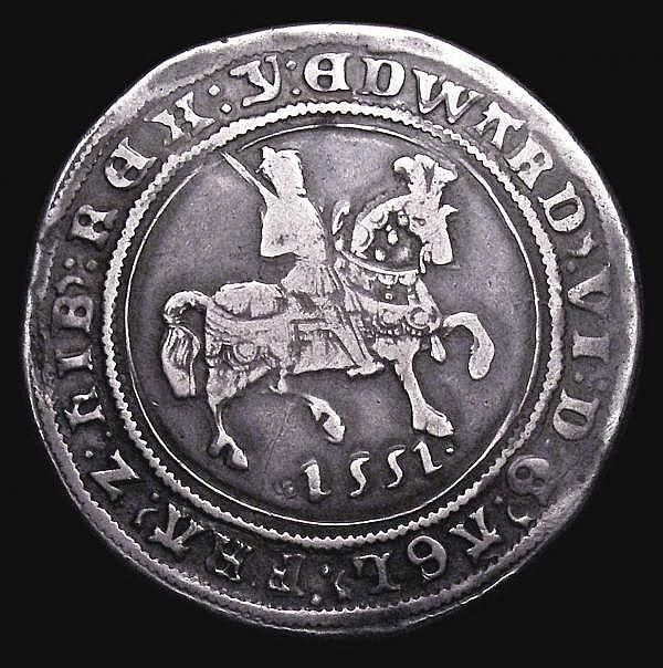 Halfcrown Edward VI 1551 Fine silver issue, Walking horse with plume, mintmark y S.2479 Fine, rare