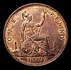 Penny 1877 Freeman 91 dies 8+J UNC/AU and lustrous, the obverse with a light handling mark