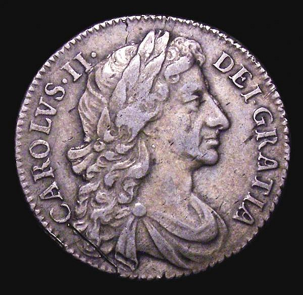 Shilling 1684 ESC 1066 NVF/GF the obverse with a couple of heavier scratches, however the finest we have offered of this rare date