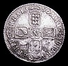 Shilling 1696 First Bust ESC 1078 GVF and unevenly toned with some contact marks, the obverse showing signs of die clashing behind the bust where the shield outline shows through