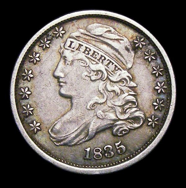 USA Ten Cents 1835 Breen 3178 VF with a small tone spot on the obverse