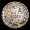 USA Ten Cents 1891 Open 9 Breen 3454 Lustrous UNC with golden tone