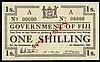 Fiji Government 1 shilling SPECIMEN dated 1st September 1942 series A No.00000, Pick49S1, corner marks otherwise UNC