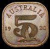Australia INA Retro Series Fantasy Crown 1920 in copper X#1b Prooflike UNC and nicely toned