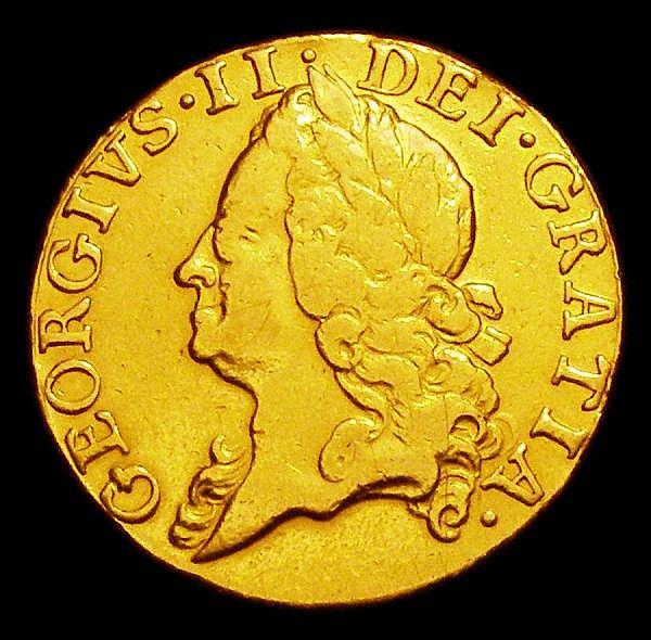 Guinea 1748 S.3680 Fine, ex-jewellery