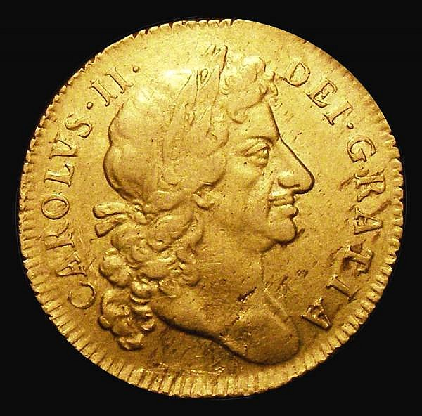 Guinea 1683 S.3344 Near VF with some hairlines and haymarking, the best example we have handled of this date