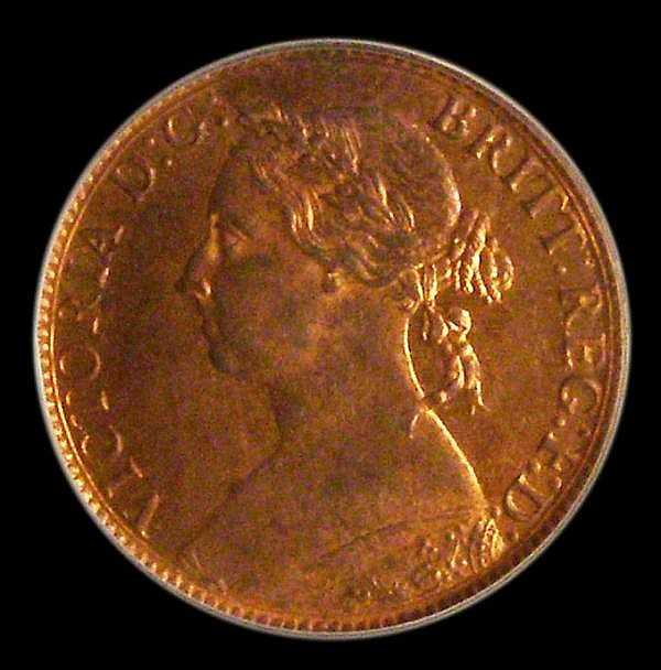 Farthing 1886 Freeman 557 dies 7+F Choice UNC, slabbed and graded LCGS 90, Ex-NGC MS65 RB (no NGC ticket, recorded on the LCGS website) the joint finest known of 35 examples thus far recorded by the LCGS Population Report.