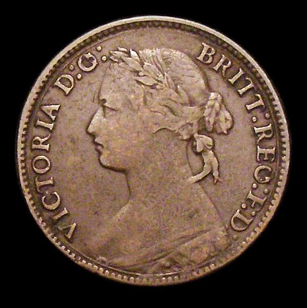 Farthing 1874H G's over sideways G.s Freeman 527 dies 4+C, approaching Fine, a collectable example for the grade