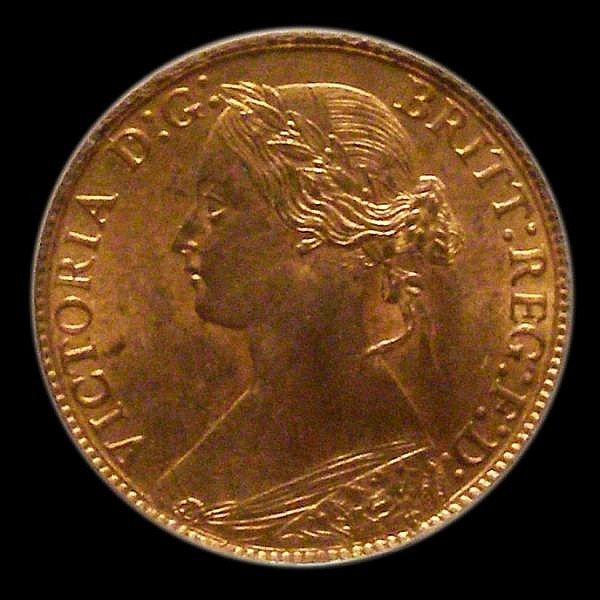 Farthing 1873 High 3 in date LCGS Variety 01 Choice UNC, slabbed and graded LCGS 90, the joint finest known of 41 examples thus far recorded by the LCGS Population Report. Very few currency coins achieve this grade and are very desirable on the rare