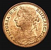 Penny 1875 Freeman 80 dies 8+J UNC with around 65% lustre
