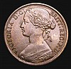 Penny 1869 Freeman 59 dies 6+G NVF very rare