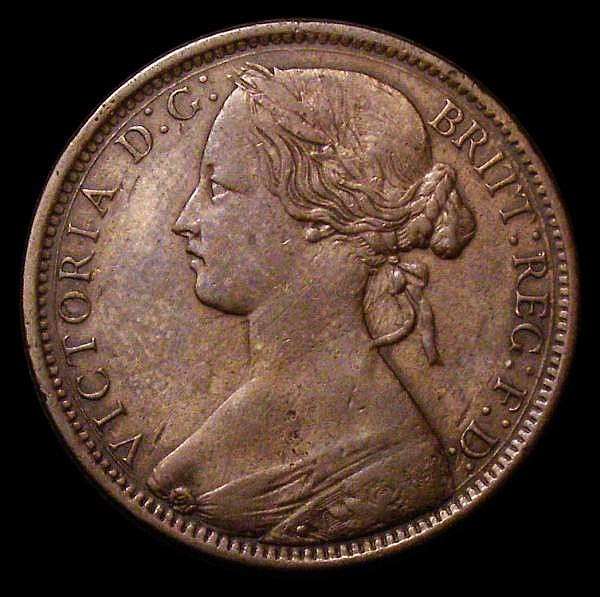 Penny 1871 Freeman 61 dies 6+G Fine/About Fine with some light scratches on the obverse