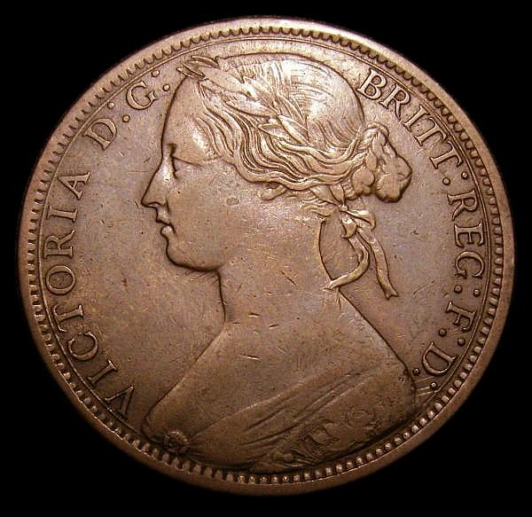Penny 1870 Raised dot below Y of PENNY LCGS Variety 05 Fine, slabbed and graded LCGS 25, Ex-Dr.A.Findlow Hall of Fame Pennies, still the only example thus far recorded by the LCGS Population Report
