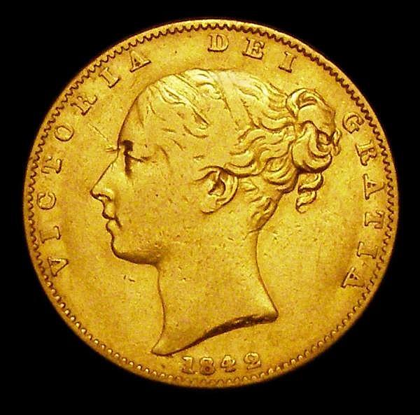 Sovereign 1842 Marsh 25 Fine