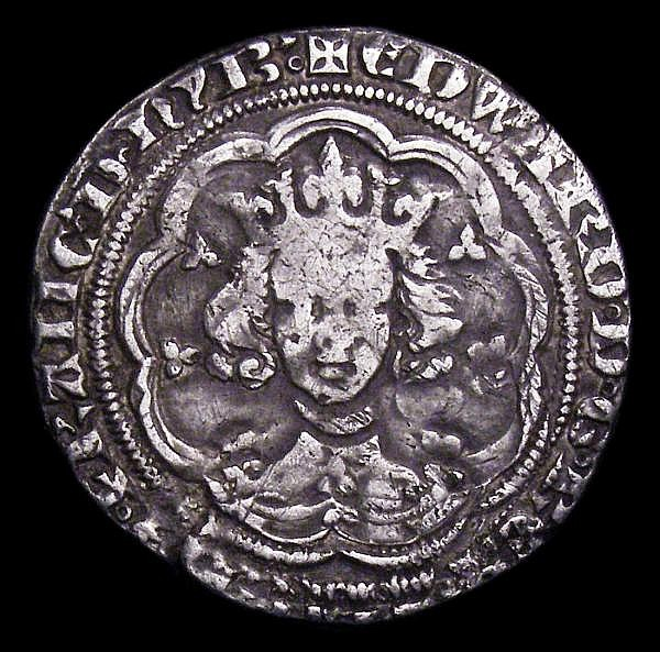 Groat Edward III Pre-Treaty mule series B/C S.1563/S.1565 mintmark Cross 1 Fine, Ex-I.Buck Collection 30/11/2005 Lot 58 (part)