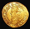 Gold Crown Charles I Second Bust, bust breaks inner circle S.2711 mintmark Negro's head approaching VF with some weaker areas, the obverse with some scuffs