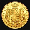 Sovereign 1846 Marsh 29 GEF and lustrous with some  contact marks