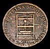 USA Franklin Press Token 1794 Breen 1165 Fine with some light corrosion