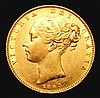 Sovereign 1843 Marsh 26 GVF with a tone spot on the cheek and a few small rim nicks