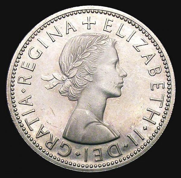Florin 1958 VIP Proof Davies 2374P Lustrous UNC with minor contact marks
