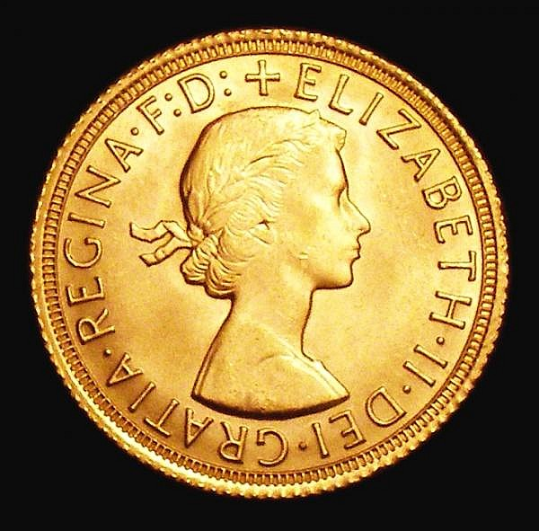 Mint Error - Mis-Strike Sovereign 1967 Marsh 305 with a large minting flaw on the reverse similar in shape to a lion's head UNC and lustrous, this sort of error rarely seen on gold coinage