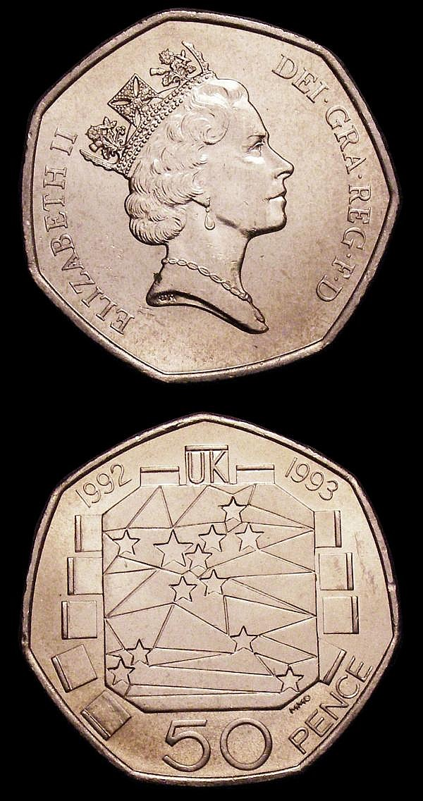 Fifty Pence 1992/3 EU Presidency S.4352 (2) UNC lightly toning, many of this issue were melted