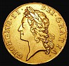 Five Guineas 1729 Plain below bust S.3663, our archive database show this to be scarcer than the 1729 EIC type, Good Fine or better with a pleasing overall appearance and very collectable