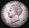 Halfcrown 1828 ESC 648 NVF/VF toned, the obverse with some light hairlines, Rare