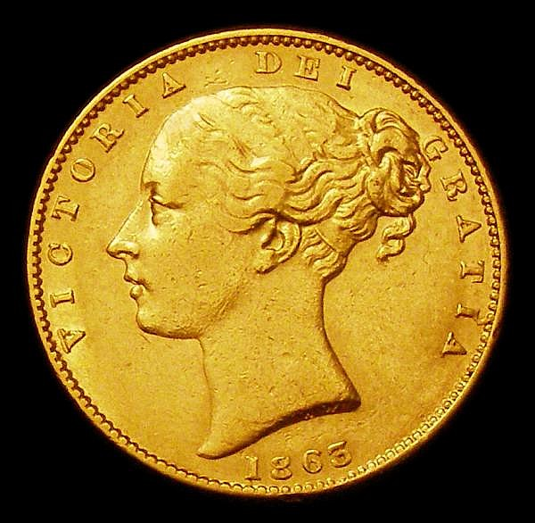 Sovereign 1863 Marsh 46 VF
