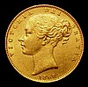 Sovereign 1868 Marsh 52 Die Number 22 GVF with a tone line on the reverse