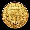 Sovereign 1869 Marsh 53 Die Number 34 NVF/GF