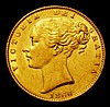 Sovereign 1866 Marsh 51, Die Number 11 NEF with a few small rim nicks