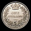 Shilling 1871 ESC 1321 Die Number 38 GVF the obverse with a small tone spot