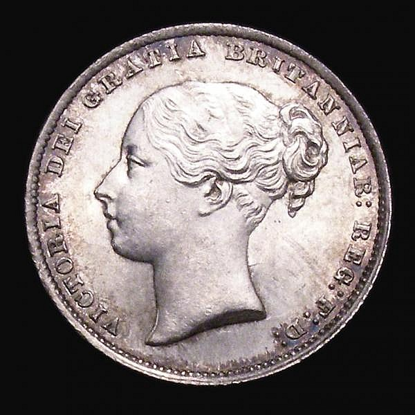 Shilling 1862 ESC 1310 UNC and lustrous with minor contact marks, Very Rare in this grade