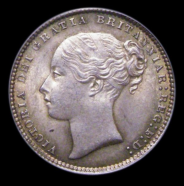 Shilling 1873 ESC 1325 Die Number 35 UNC or near so and nicely toned, slabbed and graded LCGS 75