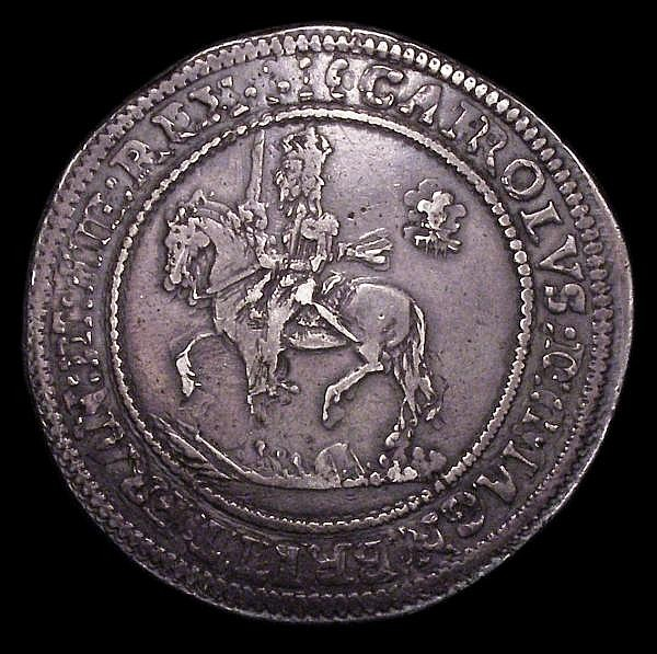 Half Pound Charles I Shrewsbury Reverse die (see Brooker 803-804) Oxford mint, reverse dies same as Brooker 866, obverse dies same as Brooker 867-868, mintmark Plume/- S.2944, full and round, well-centred and evenly struck NVF/VF