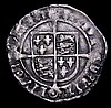 Groat Henry VIII Posthumous Base Silver issue S.2403 Bust 4 London Mint, mintmark Lis, Fine with some edge nicks, the portrait however nearer VF, the legend weak in parts as often seen on this issue