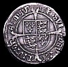 Groat Henry VIII First Coinage 1509-1526, S.2316 Portrait of Henry VII, London Mint, mintmark Portcullis VF creased and with a couple of edge chips and a small crack