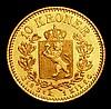 Norway 10 Kroner 1877 Oscar II KM358 a scarce one year type, Unc