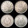 USA Five Cents (3) 1901 Breen 2566, 1905 Breen 2570, 1912 Breen 2580 all Lustrous UNC