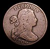 USA Cent 1806 Breen  VG or slightly better a collectable example